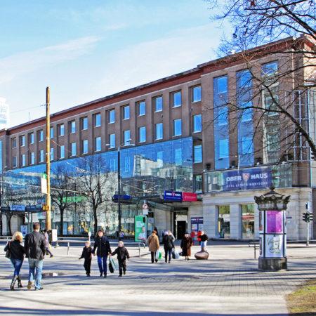 Rävala Galerii ja Tallinna Kaubamaja Tammsaare pargist hetkel